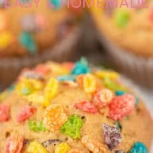 Easy fruity pebble muffins