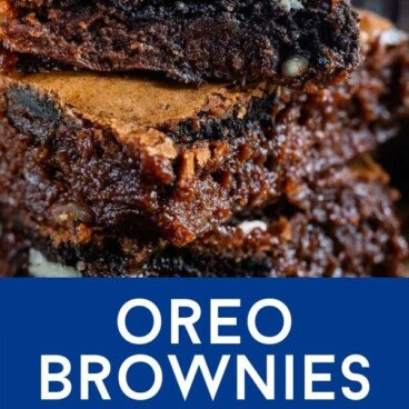 Brownies with oreos