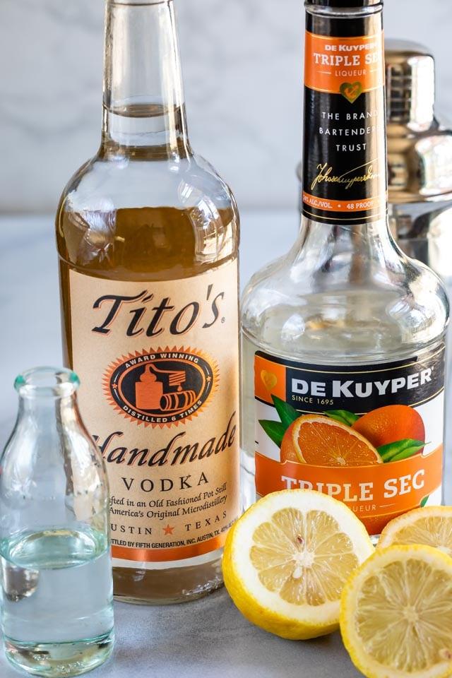 Lemon martini ingredients