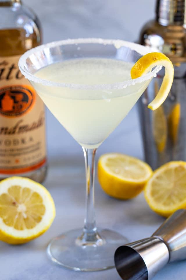 Lemon martini cocktail