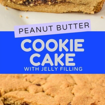 Cookie cake with jelly filling