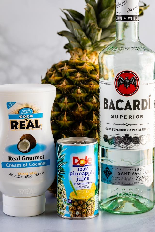Ingredients for pina colada