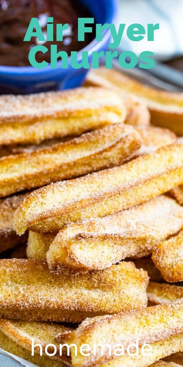 Homemade air fryer churros