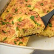 Easy bacon egg casserole