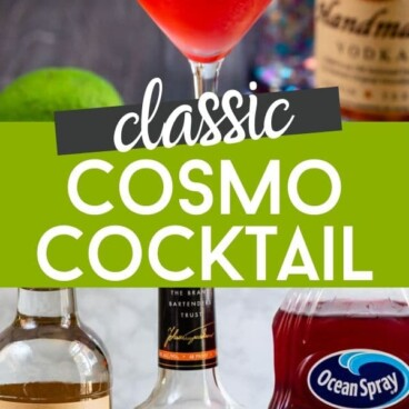 Cosmopolitan cocktail collage