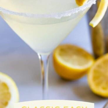 Easy lemon martini cocktail