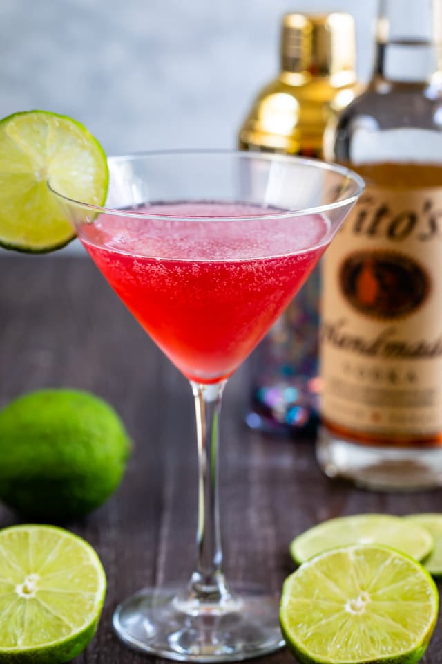 Cosmopolitan Cocktail Recipe Just 4 Ingredients Crazy For Crust