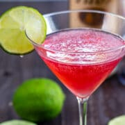 Cranberry martini cocktail