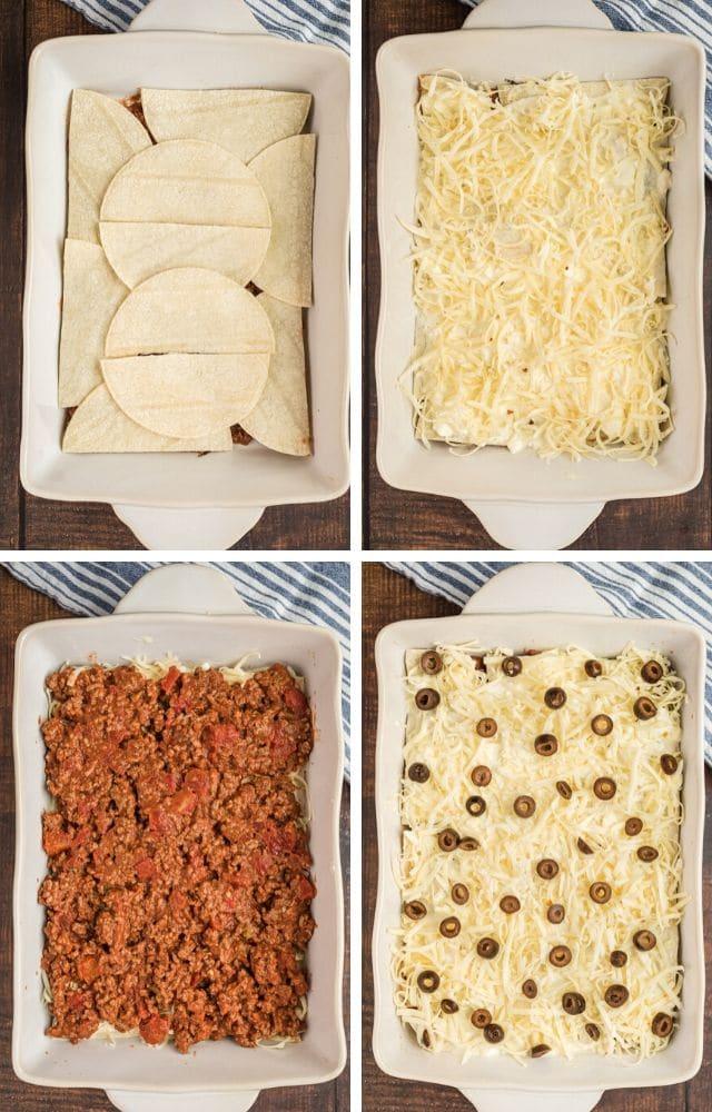 Southwestern lasagna process