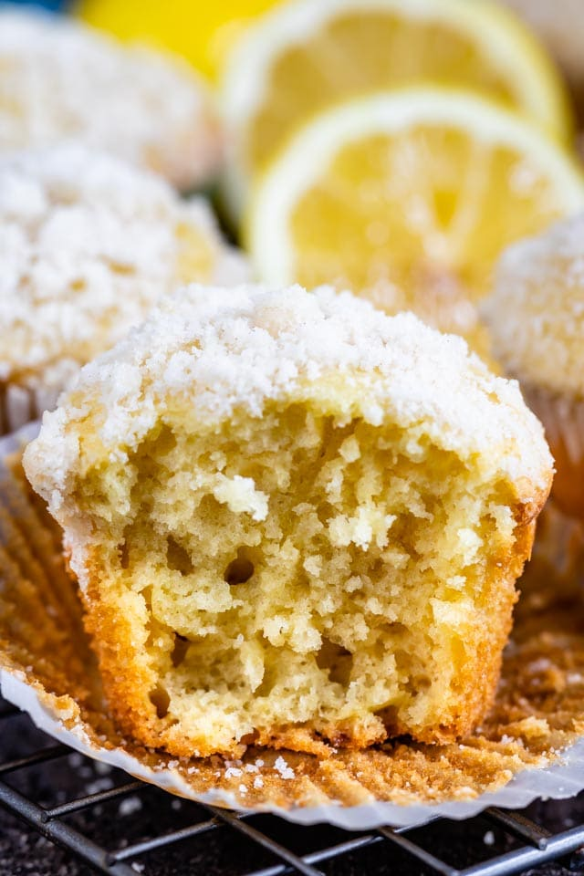 Perfect lemon crumb muffins