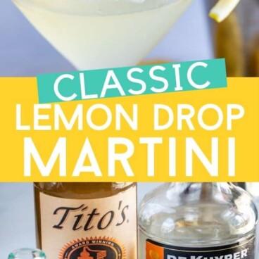 Classic lemon drop cocktail