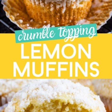 Crumble topping lemon muffins