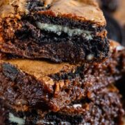 Oreo filled brownies