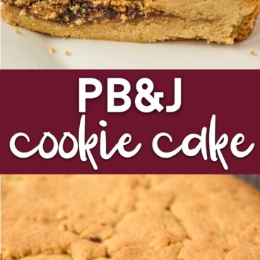 PB&J cookie cake collage