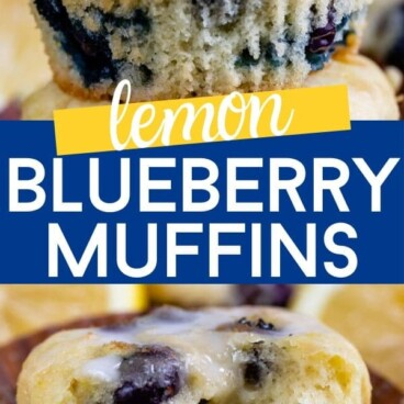 Lemon blueberry muffins collage