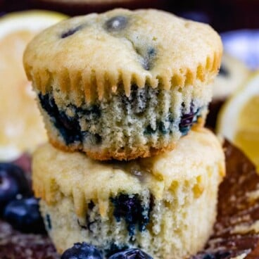 Easy lemon blueberry muffins