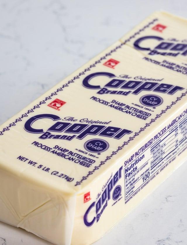 block of Cooper Cheese