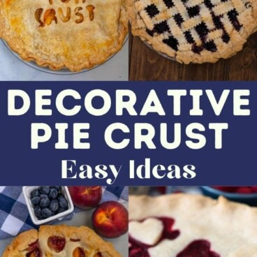 collage of pie crust designs