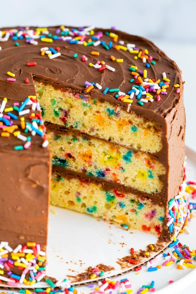 Classic Birthday Cake Recipe With Sprinkles Crazy For Crust