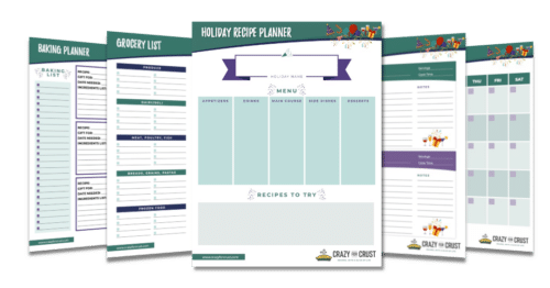 printable holiday planner pages mockup