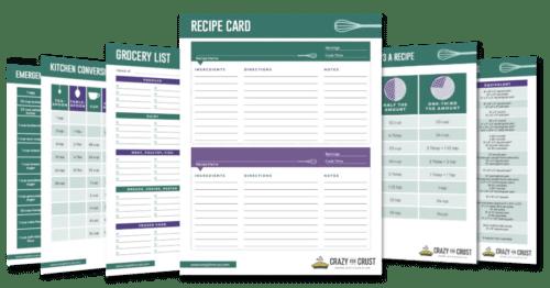recipe book printable mockup
