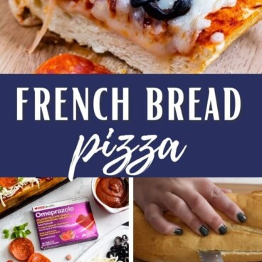 collages of pizza and how to make French bread pizza