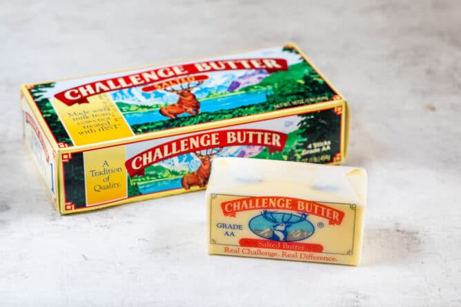 challenge butter box and stick of butter