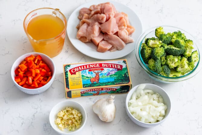 Ingredients for how to make Garlic Butter Chicken