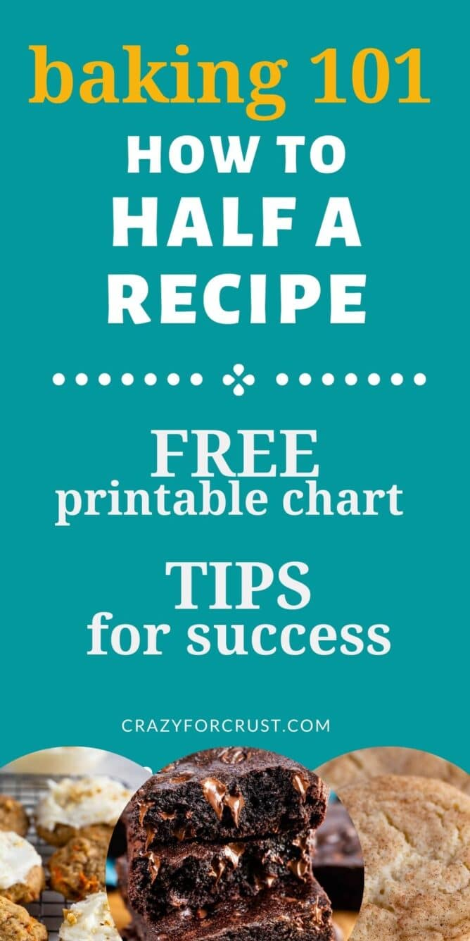 infographic - how to half a recipe