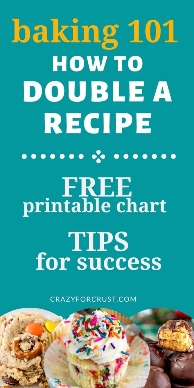 infographic how to double a recipe