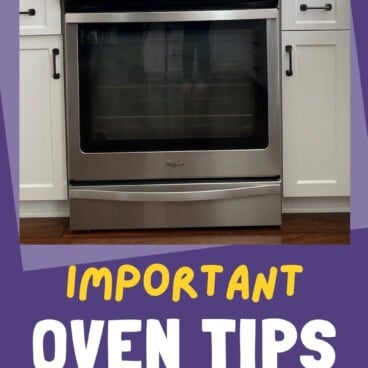 photo of oven surrounded by words