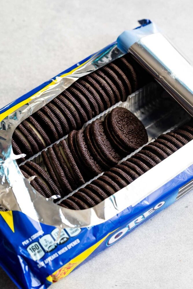 Open package of Oreos